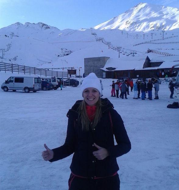 Enfermera Maika Luque en la Nieve