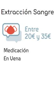 Precio Servicio de Enfermeria de extracción de sangre