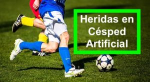 heridas en cesped artificial