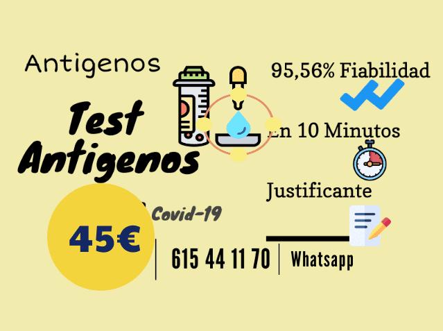 test antígenos precios